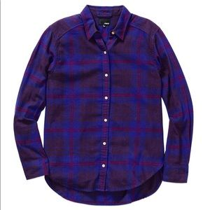 Aritzia Purple Plaid Button Down